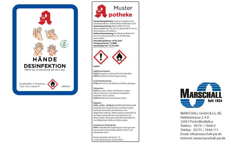Etiketten zur Kennzeichnung