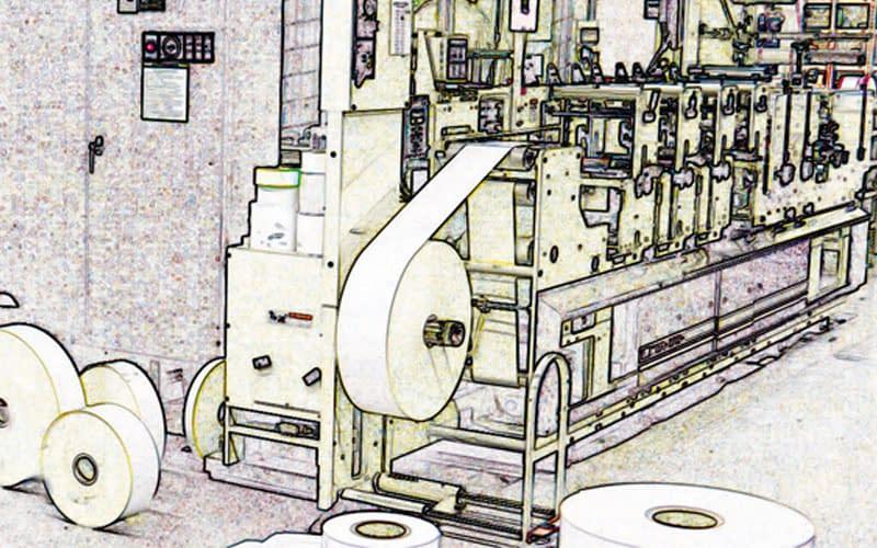 etiketten produktion
