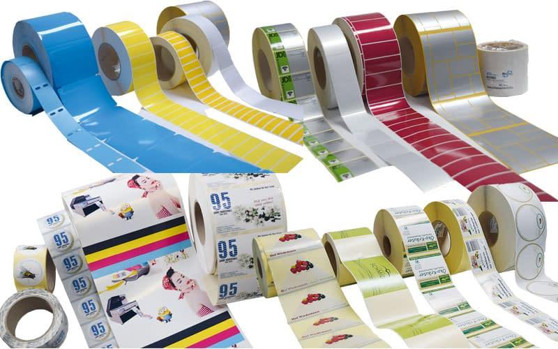 Etiketten Sorten Folienetiketten Typenschilder Papier InkJet