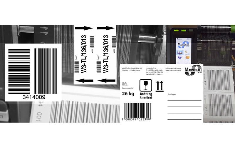 palettenetiketten und barcodeetiketten